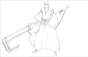 Izuru Kira Bankai WIP by Arrancarfighter