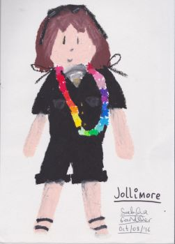 Jollimore Wearing a Lei - Oil Pastel Sketch by TheRealCanadianBoys