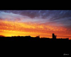 Sunset Over St Andrews by caboose3110