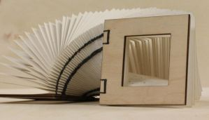 Laser-cut Coptic-bound Book by DracoLoricatus
