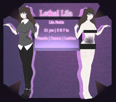 {Creepypasta OC} Lethal Lila by Scarmmetry
