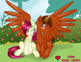 Autumn Wing x Roseluck Commission by ladypixelheart