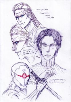 MGS: Character sketches 01 by hk-ink