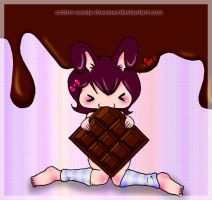 choco bunny by cotton-candy-dreamer