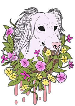 Light Floral Canine Print by LinksEyebrows