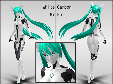 White Carbon Miku Download by MaiCroft