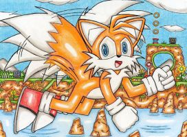 Tails Flying by DragonQuestHero