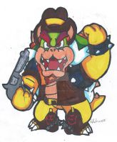 Cowboy Bowser by MarioGamer2000