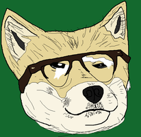 Glasses Dog by holdypause