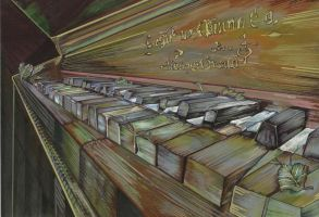 ruined piano by EstherDom