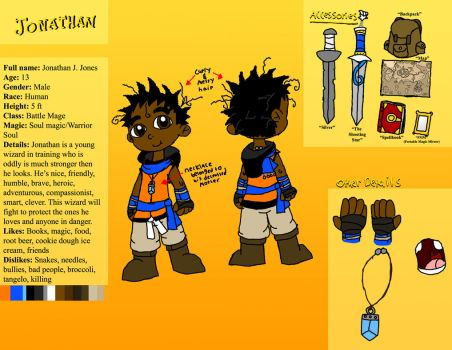 Jonathan Jones reference sheet by AutoJohnny