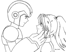 X and Samus by ayabrea
