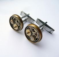 Cufflinks Model Eleven by AMechanicalMind