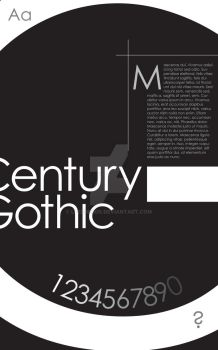 Century Gothic Type Poster by lpedreros