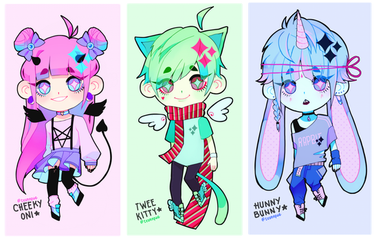 [ONE LEFT!!] NEW KEMONOMIMI ADOPTS 2 by txunnpae