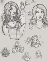 Ali Prelim Sketches by MechanicalPumpkin