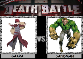 Death Battle Gaara vs Sandman by Gatlinggundemon9