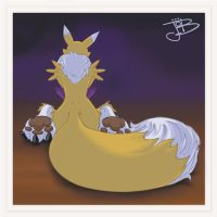 Renamon_pose_Color_planos by gurudJ