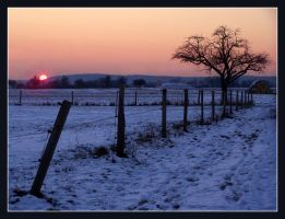 Winter Sunset by kine80