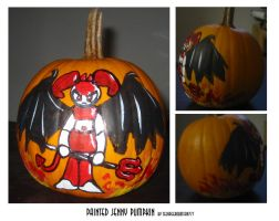 Jenny painted pumpkin by teenagerobotfan777