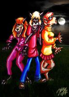 The Werewolf Trio in color by pythonorbit