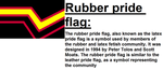 Rubber pride flag by n0-username
