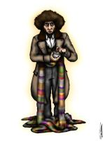 The Fourth Doctor: Tom Baker by ApocalypseCartoons