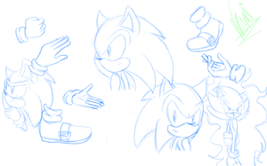 Sonic practice sketches by JudoGirls