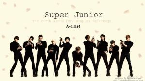 Super Junior A-Cha Wall :D by Lanaleiss