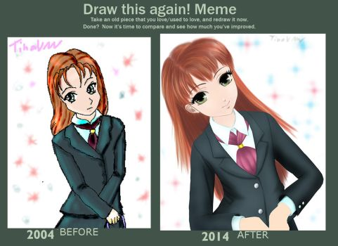 Draw This Again: School Girl by LingTina