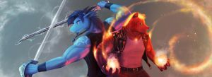 Gilian and Blaise by Koru-Xypress