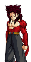 Trunks SSJ4 by SpongeBoss