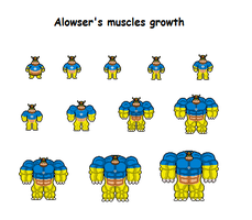 Alowser's muscles growth by Effra-Bulbizarre