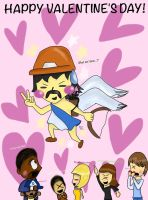 Kenny greets us 'Happy Valentine's!' by Junjou-DeathNote