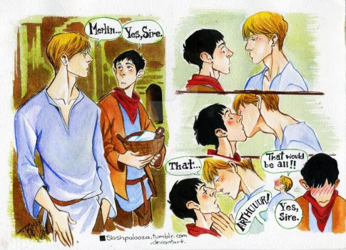 MERTHUR kiss by Slashpalooza