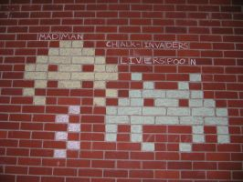 Chalk invaders by liverspoon