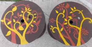 Hand painted tables by osodelpan