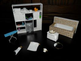 Miniature Bathroom Accessories by kayanah
