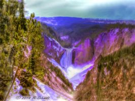 Lower Falls Yellowstone National ParkWyoming by MSchmidtPhotography
