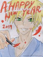 Happy New Year - Usui Takumi by EveKudo