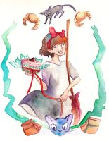 Kiki's delivery service (Bday gift for Fran) by everydayexplorer