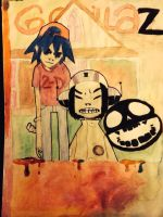 American gothic parody with 2D and noodle by ItzMeJazz