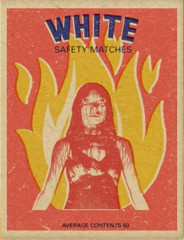 White Safety Matches by Eye--Love