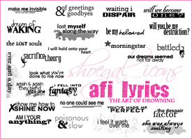 AFI Lyrical Brushes - Art of D by kissncontrol