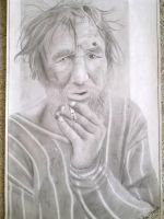 pencil portrait (hiperrealism) by H3cT0r-Dibujos