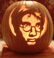 Harry Potter Pumpkin Light by johwee