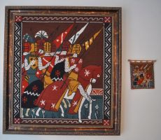 Crusaders needlepoint by ladyiolanthe