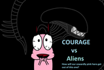 Courage vs Aliens - NON-Neon version by CocoTheWolf