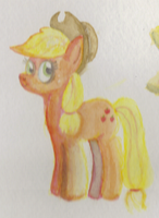 Applejack Watercolor by Shamon-Bananas
