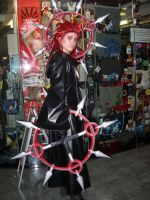Axel Cosplay- trademark pose by KellyJane